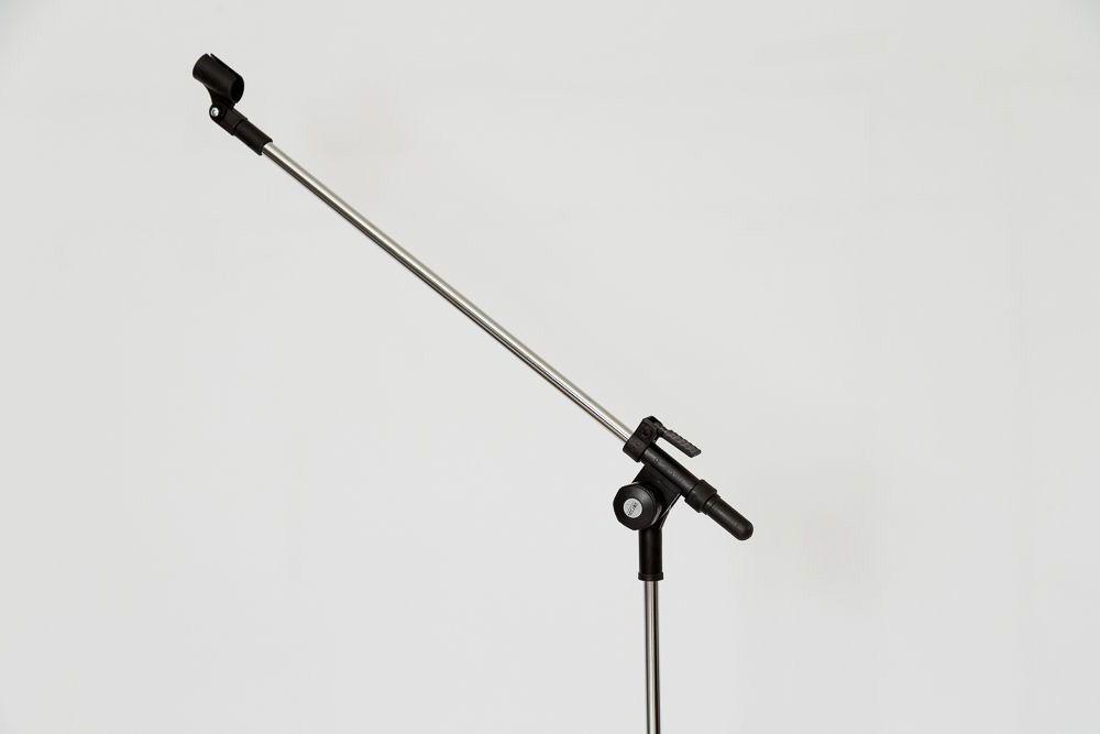 PEDESTAL GIRAFA P/ 01 MICROFONE (CROMADO) - PMV-01-C
