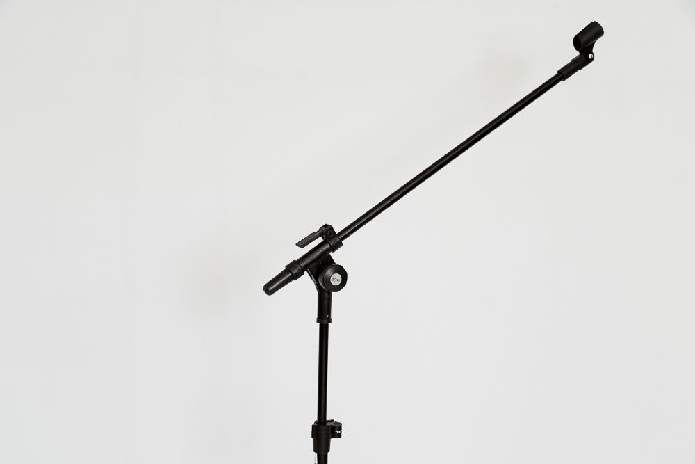 PEDESTAL P/ 01 MICROFONE S/ HASTE TELESCÓPICA (PRETO) - PMV-01-P SHT