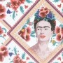 Lugar Americano Frida Kahlo Red Face And Flowers Colorido