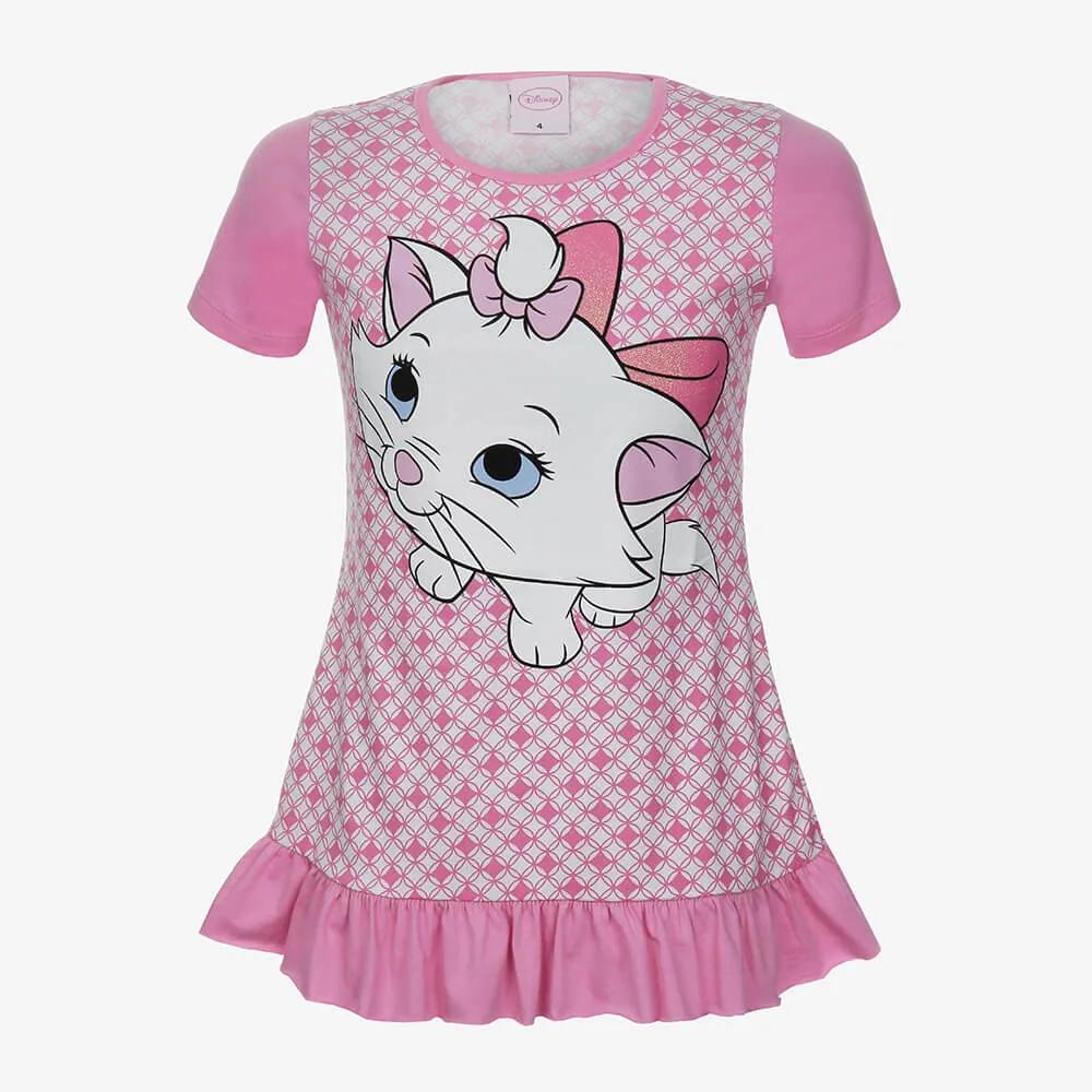 Camisola Lupo Disney Marie Infantil Feminino - Tamanho 4