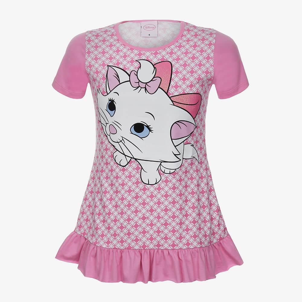 Camisola Lupo Disney Marie Infantil Feminino - Tamanho 8