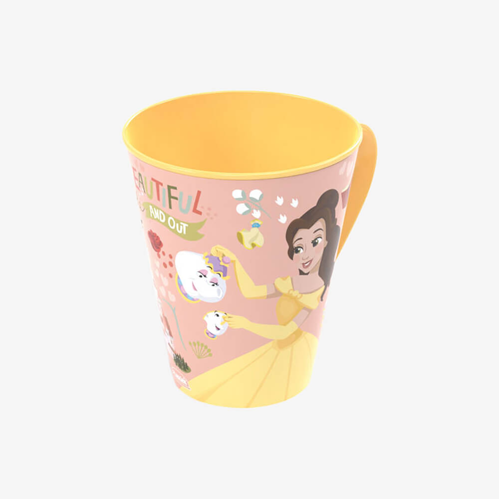 Caneca Princesas Bela 360Ml - Plasútil