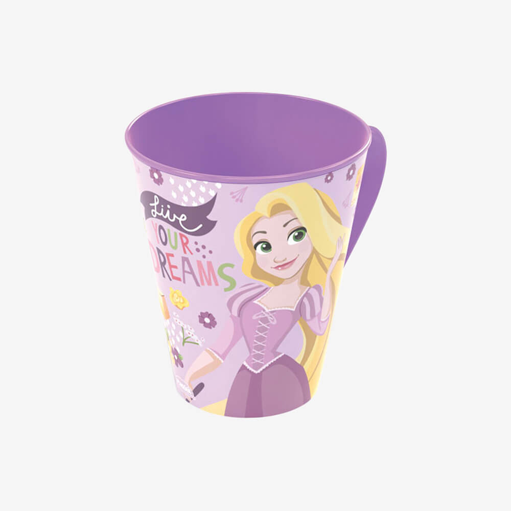 Caneca Princesas Rapunzel 360Ml - Plasútil