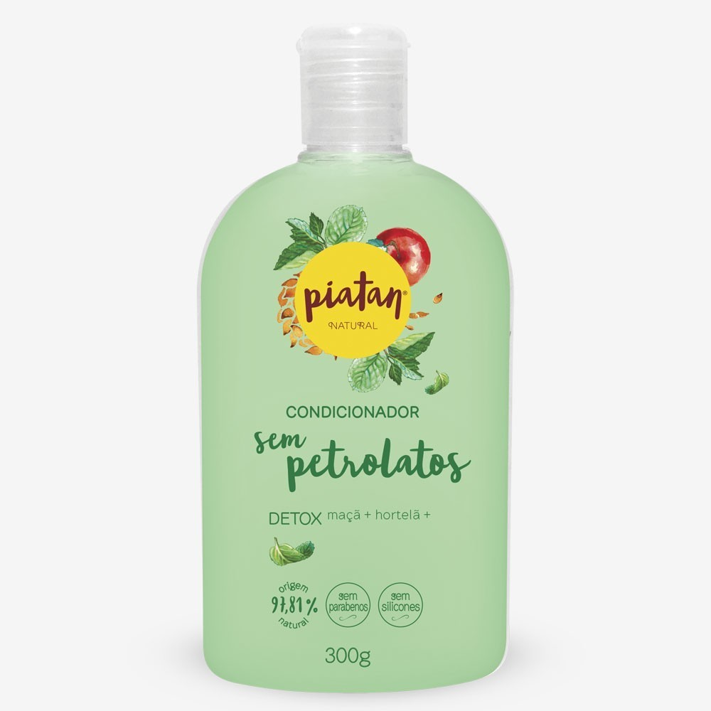 Condicionador Piatan Detox Sem Petrolatos - 300ml