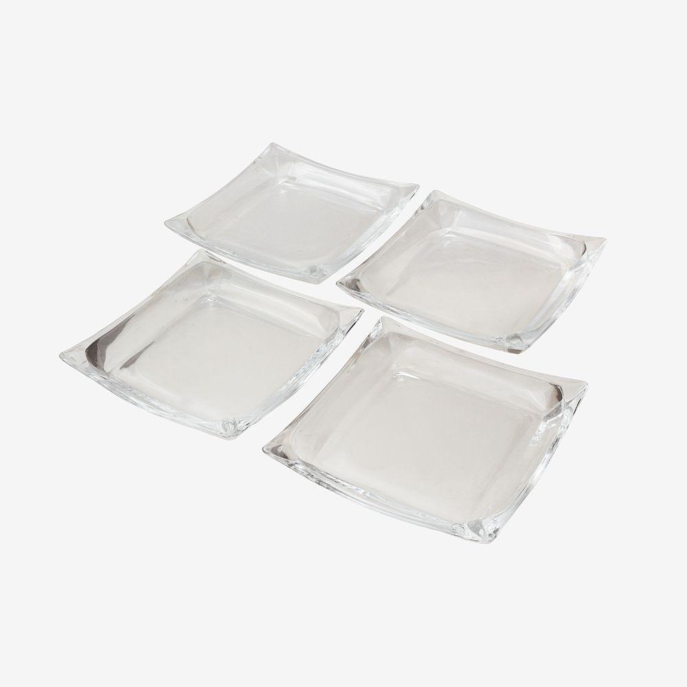 Conjunto de Pratos para Servir de vidro 6 peças