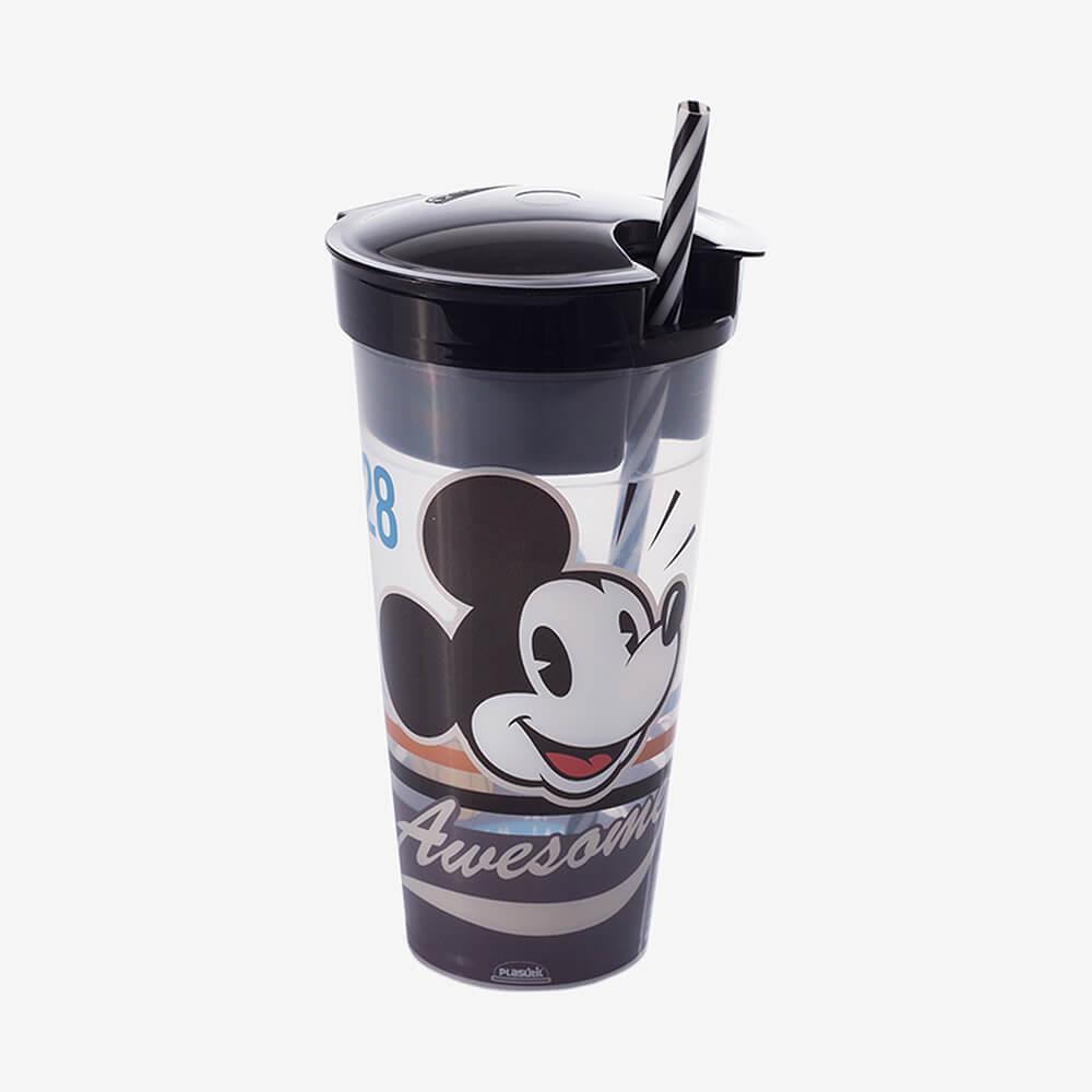Copo 2 Em 1 Mickey Vintage 540Ml - Plasútil