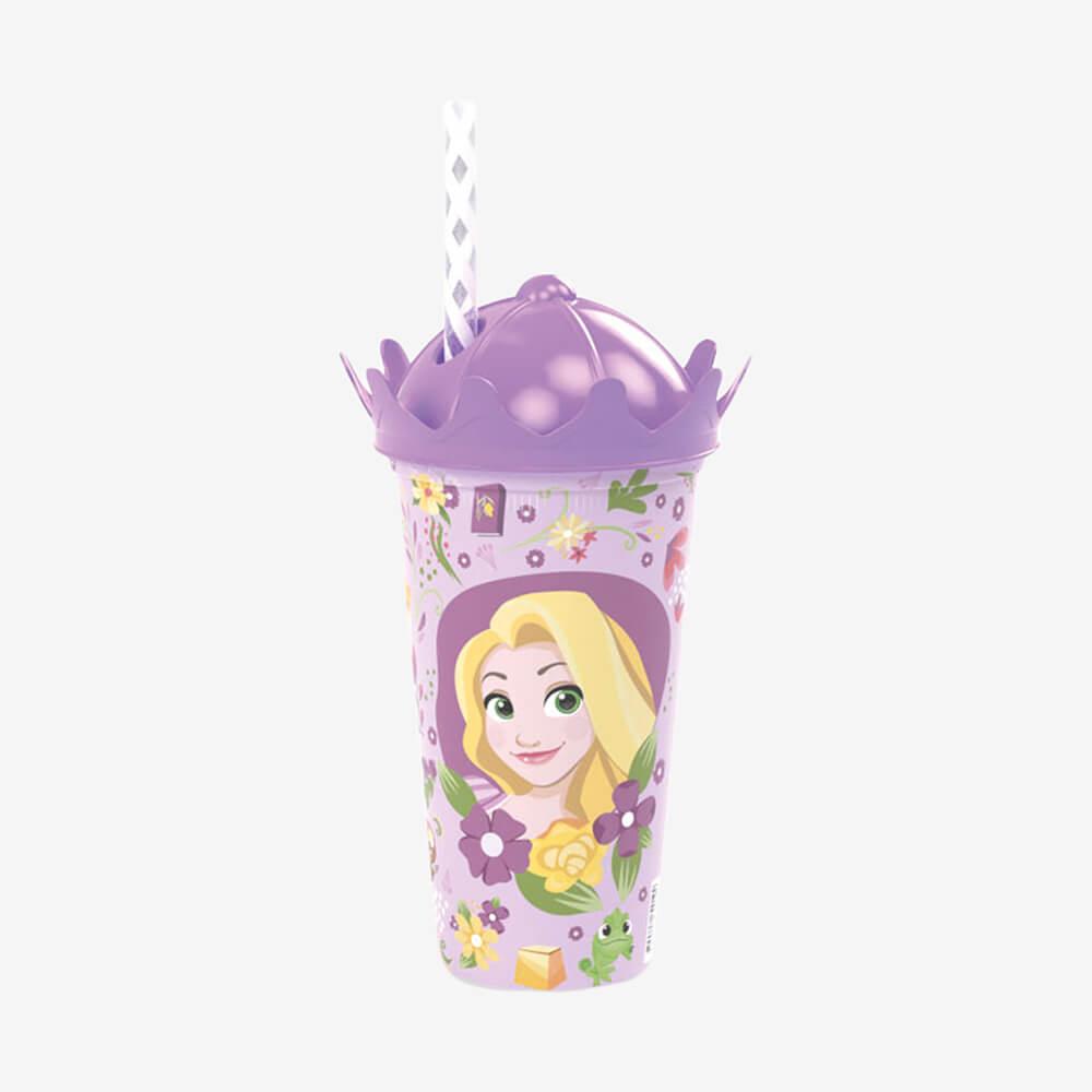 Copo Coroa Rapunzel 500Ml - Plasútil