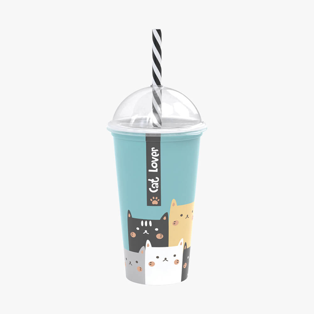 Copo Shake Cat Lover- 500Ml - Plasútil
