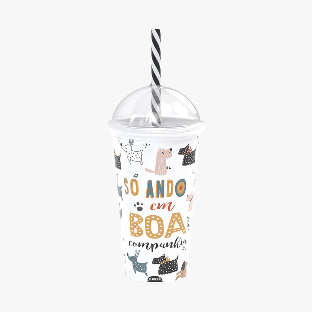 Copo Shake Dog Lover- 500Ml - Plasútil