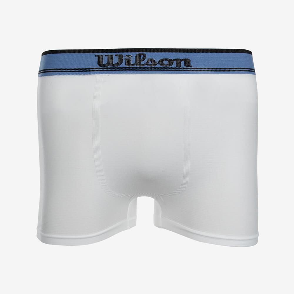 Cueca Boxer Microfibra Wilson Branco com Azul - Tamanho P