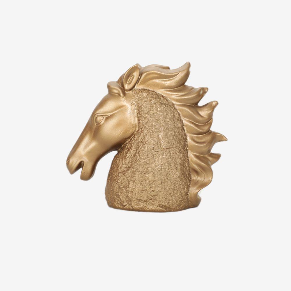 Estátua Cavalo de Poliresina 18,5 x 11,5 cm