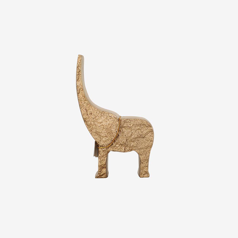 Estátua Elefante de Poliresina 13X6X19 cm