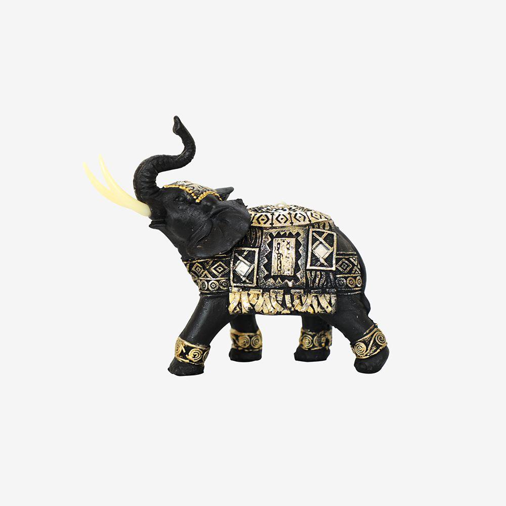 Estátua Elefante Estilizado 17,5 cm