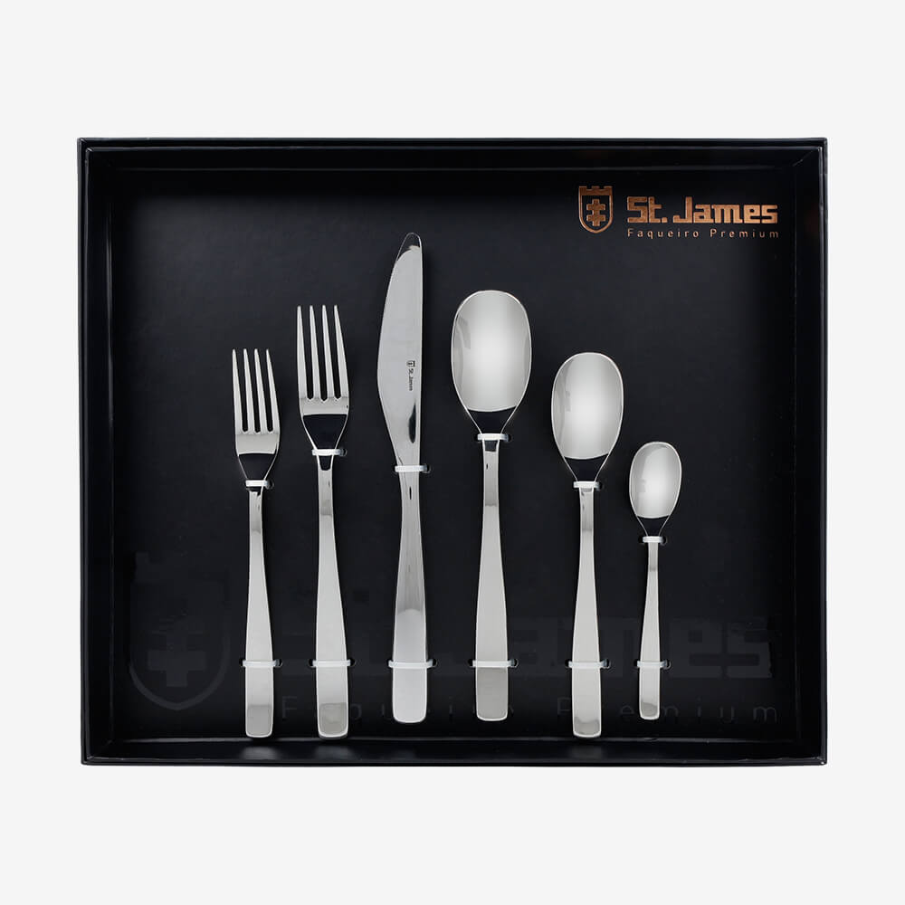 Faqueiro ST James 36 Pcs Wish Inox