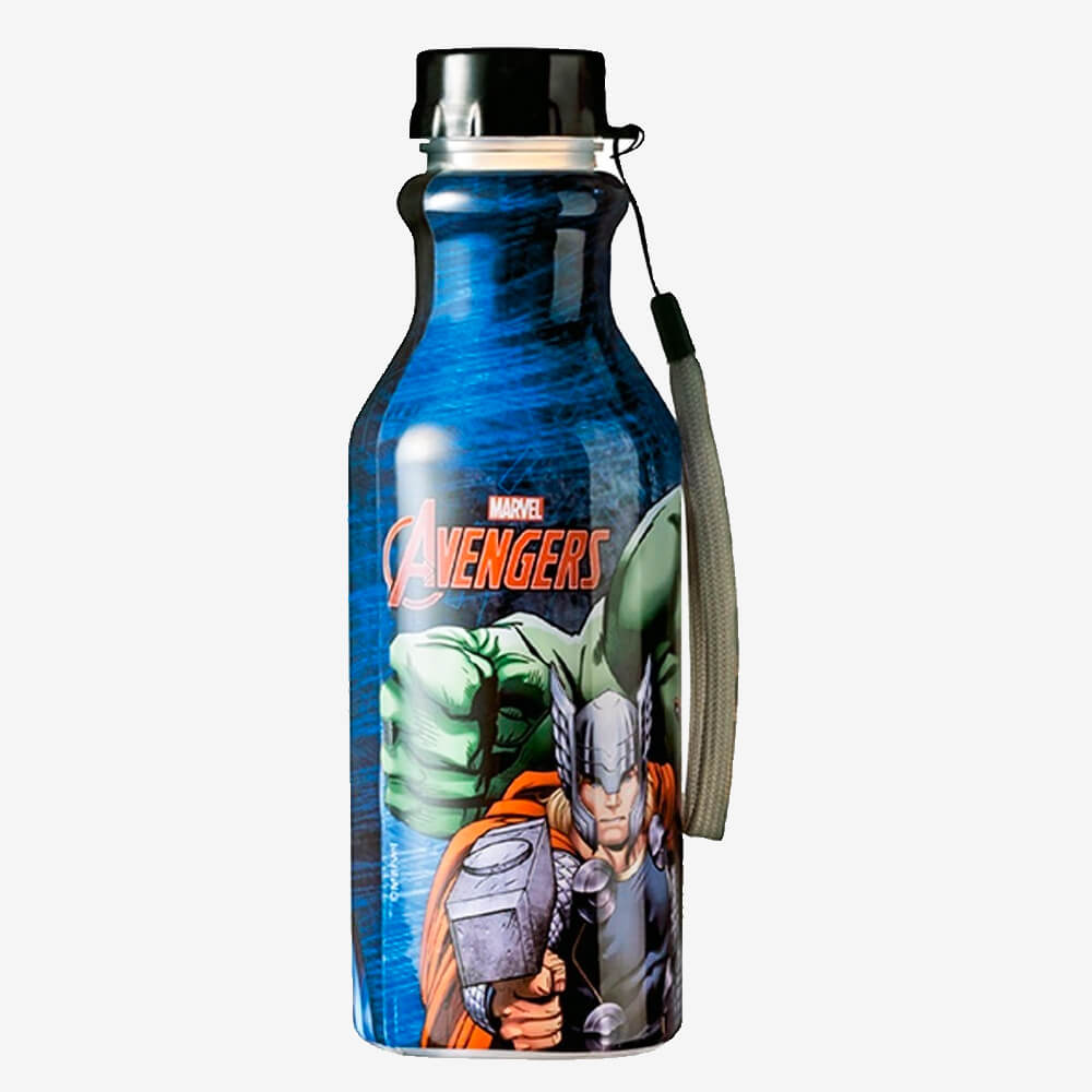 Garrafa Retro Vingadores 500Ml - Plasútil