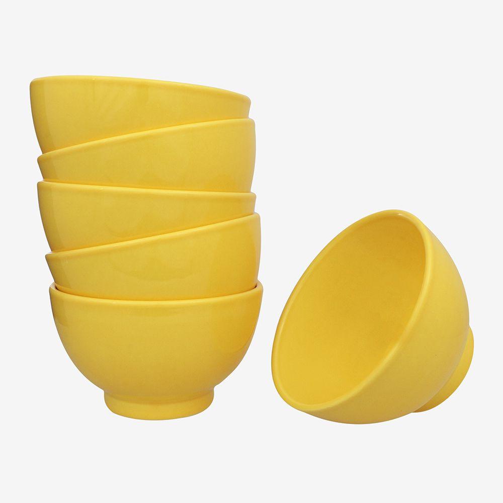 Jogo De Bowl Amarelo 6 Peças Vista Alegre