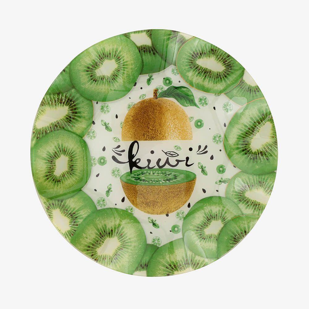 Jogo de pratos redondos Kiwi 3 peças