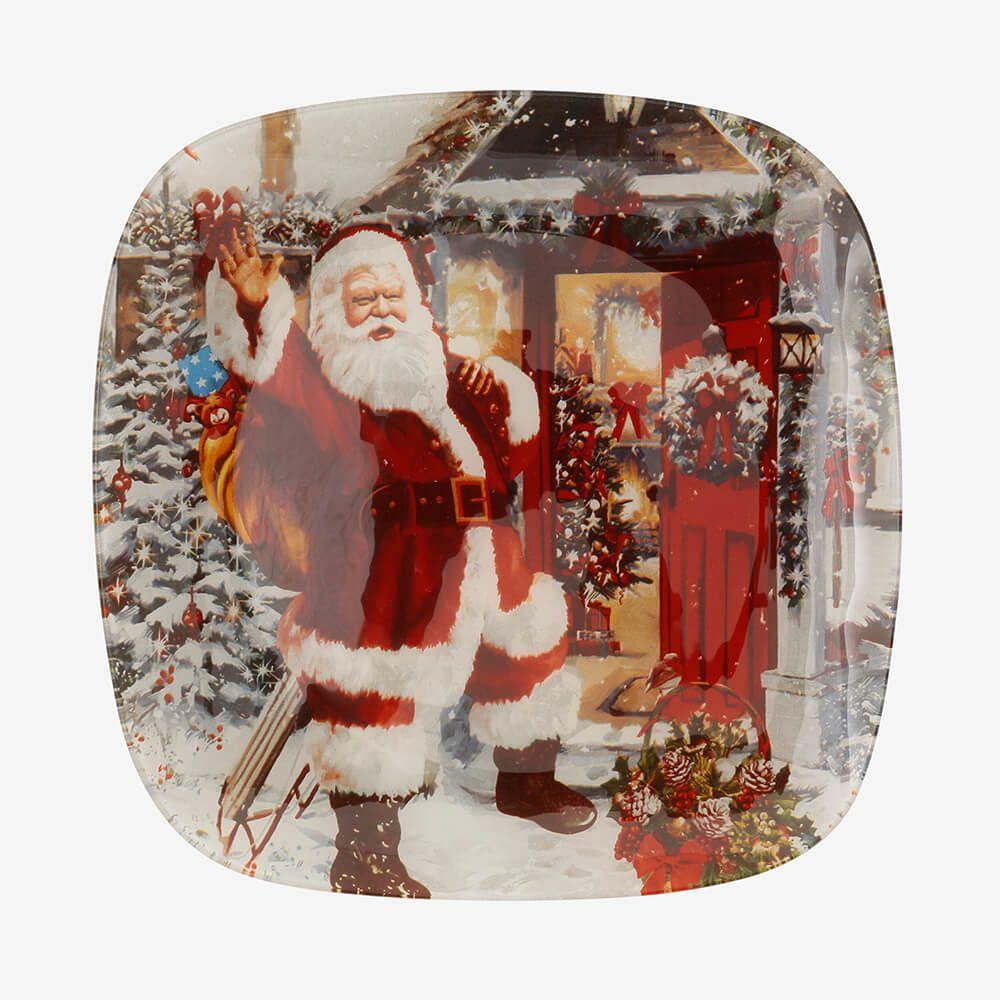 Jogo de pratos redondos Noel 3 peças - Coleção Natal
