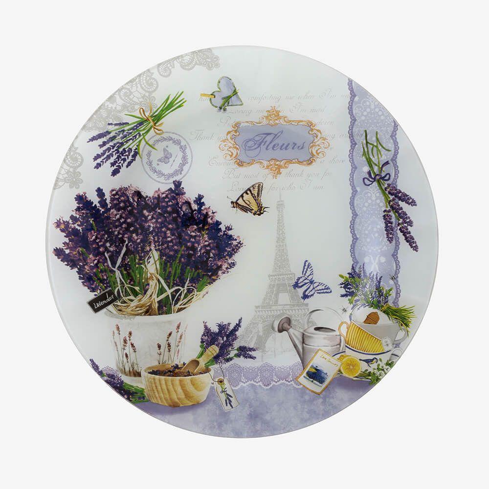 Jogo de pratos redondos Provence 3 peças