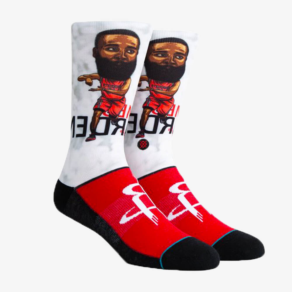 Meia Stance Harden Big Head Houston Rockets NBA