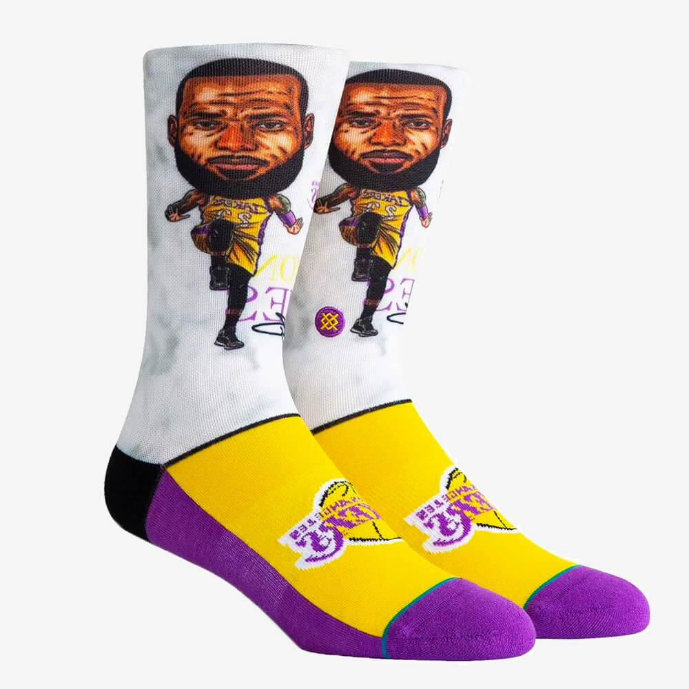 Meia Stance Lebron James Big Head Los Angeles Lakers NBA