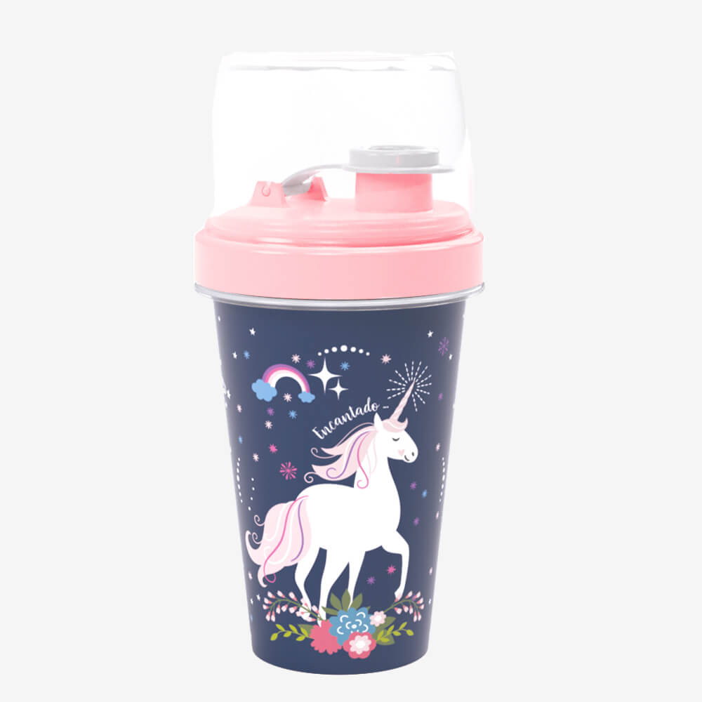 Mini Shakeira Rosa Unicórnio 320Ml - Plasútil