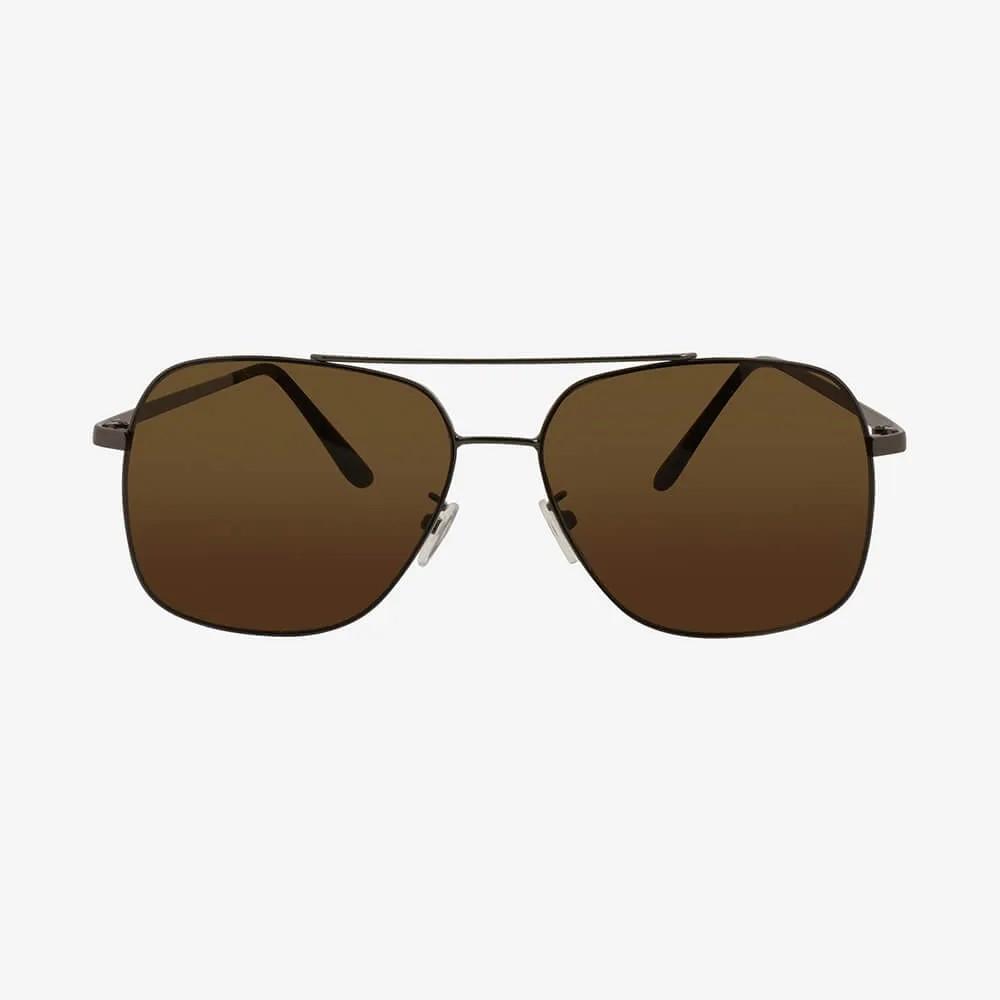 Óculos de Sol Triton Eyewear Aviador Reto Marrom