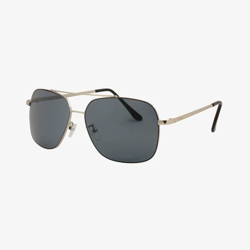 Óculos de Sol Triton Eyewear Aviador Reto Prata e Marinho