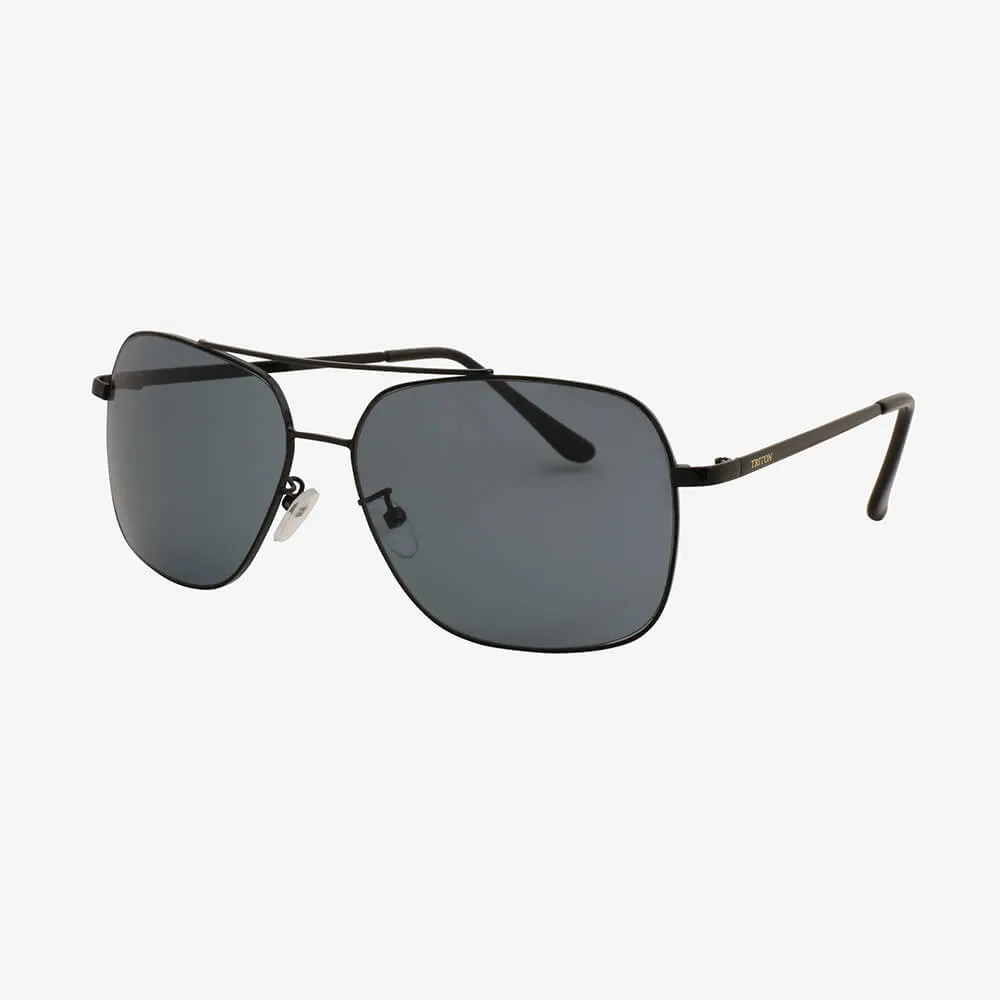 Óculos de Sol Triton Eyewear Aviador Reto Preto e Marinho