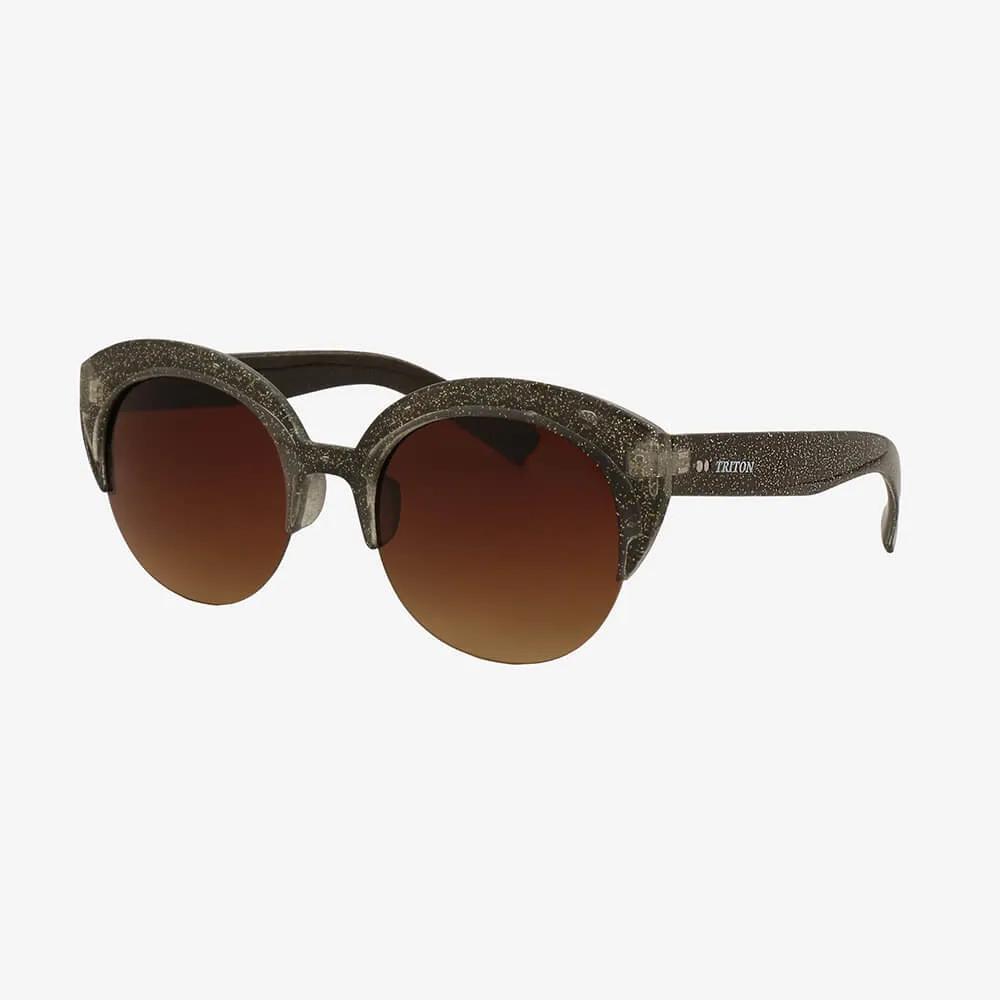 Óculos de Sol Triton Eyewear Brilhante com Lente Marrom
