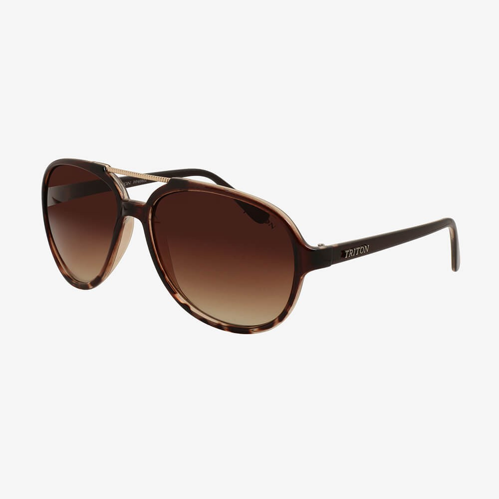 Óculos de Sol Triton Eyewear Charme Onça Marrom