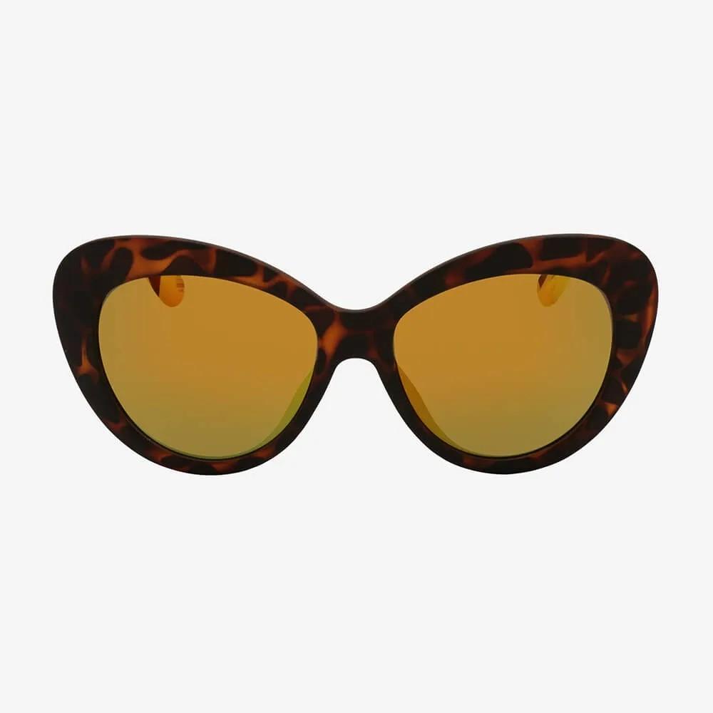 Óculos de Sol Triton Eyewear  Chic Color Laranja com Amarelo Espelhado