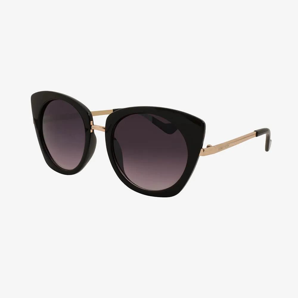 Óculos de Sol Triton Eyewear Glamour Preto com Brilho