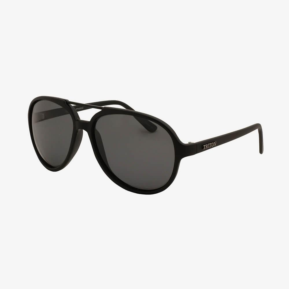 Óculos de Sol Triton Eyewear Oval Charme Preto Fumê
