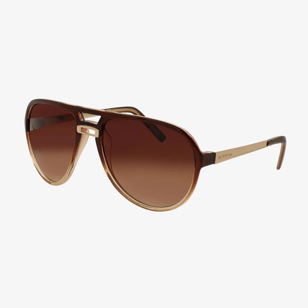 Óculos de Sol Triton Eyewear Oval Máscara Marrom com Chumbo