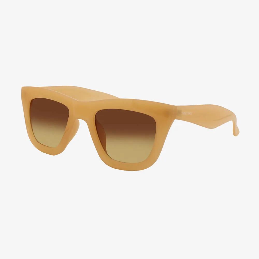 Óculos de Sol Triton Eyewear Retrô Quadrado Nude