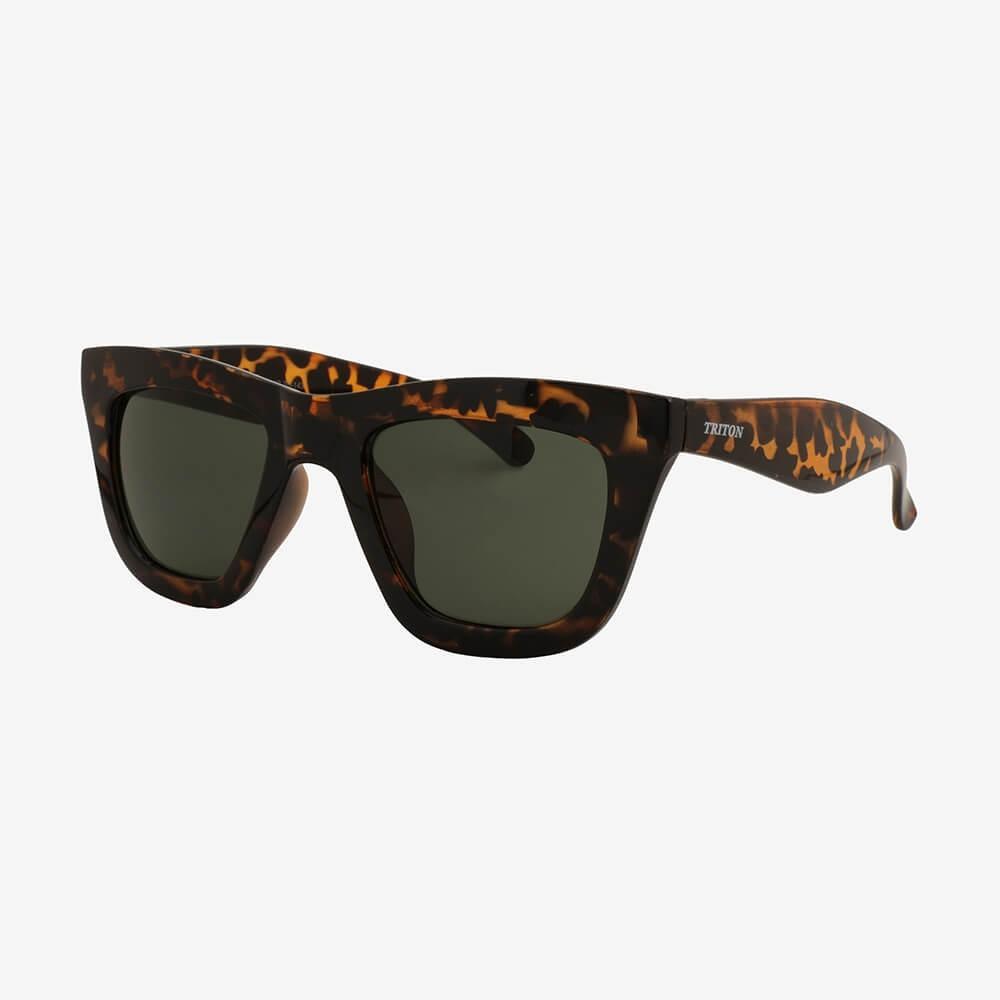 Óculos de Sol Triton Eyewear Retrô Quadrado Onça