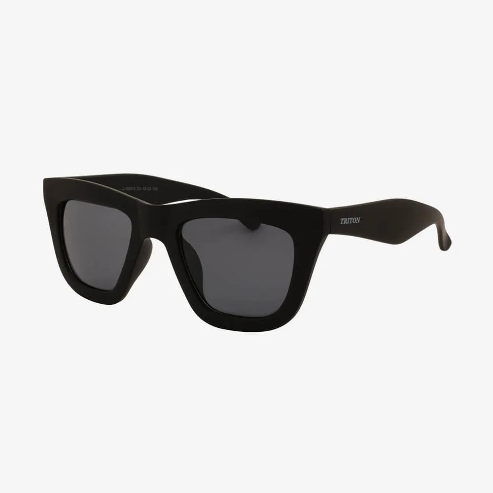 Óculos de Sol Triton Eyewear Retrô Quadrado Preto