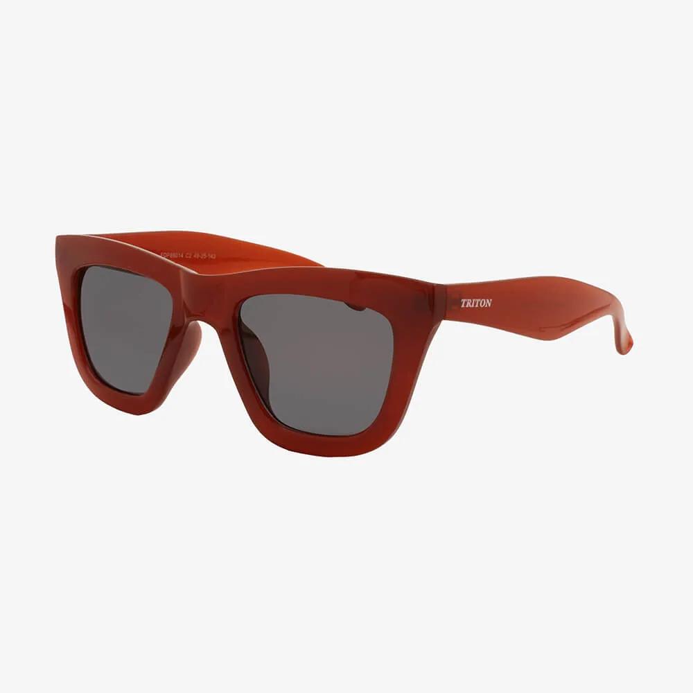 Óculos de Sol Triton Eyewear  Retrô Quadrado Vinho