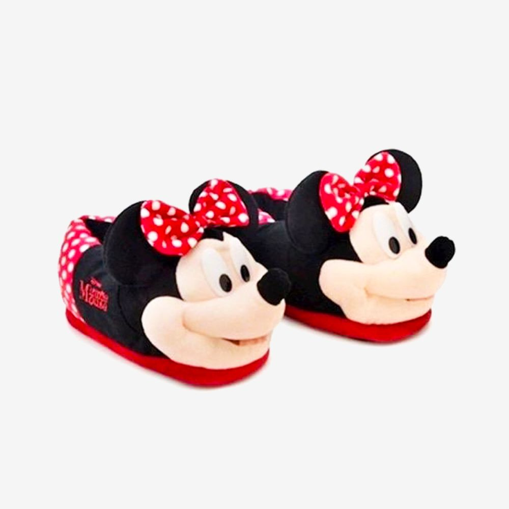 Pantufa 3D Minnie Mouse - Tamanho: 31/33