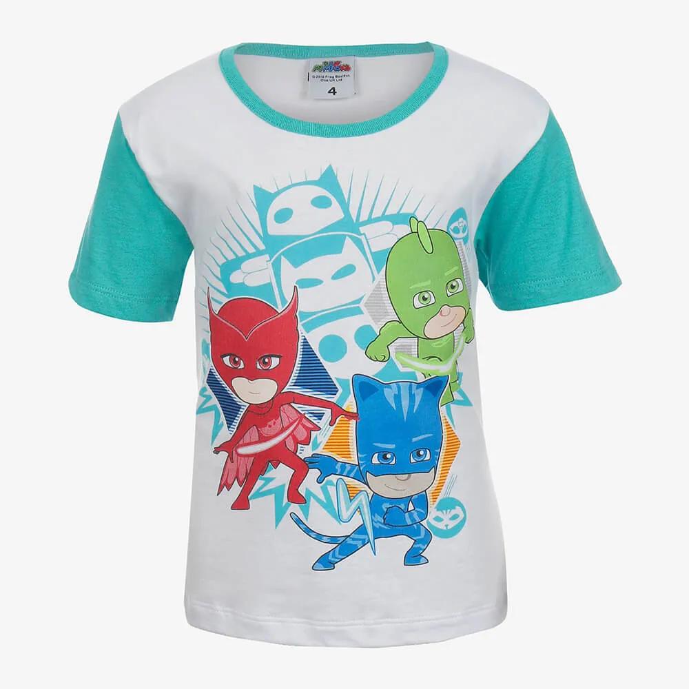 Pijama Lupo Pj Masks Infantil Masculino Branco Tamanho 6