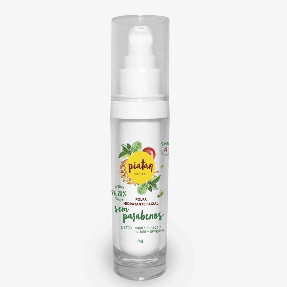 Polpa Hidratante Facial Detox Piatan Sem Parabenos - 30g