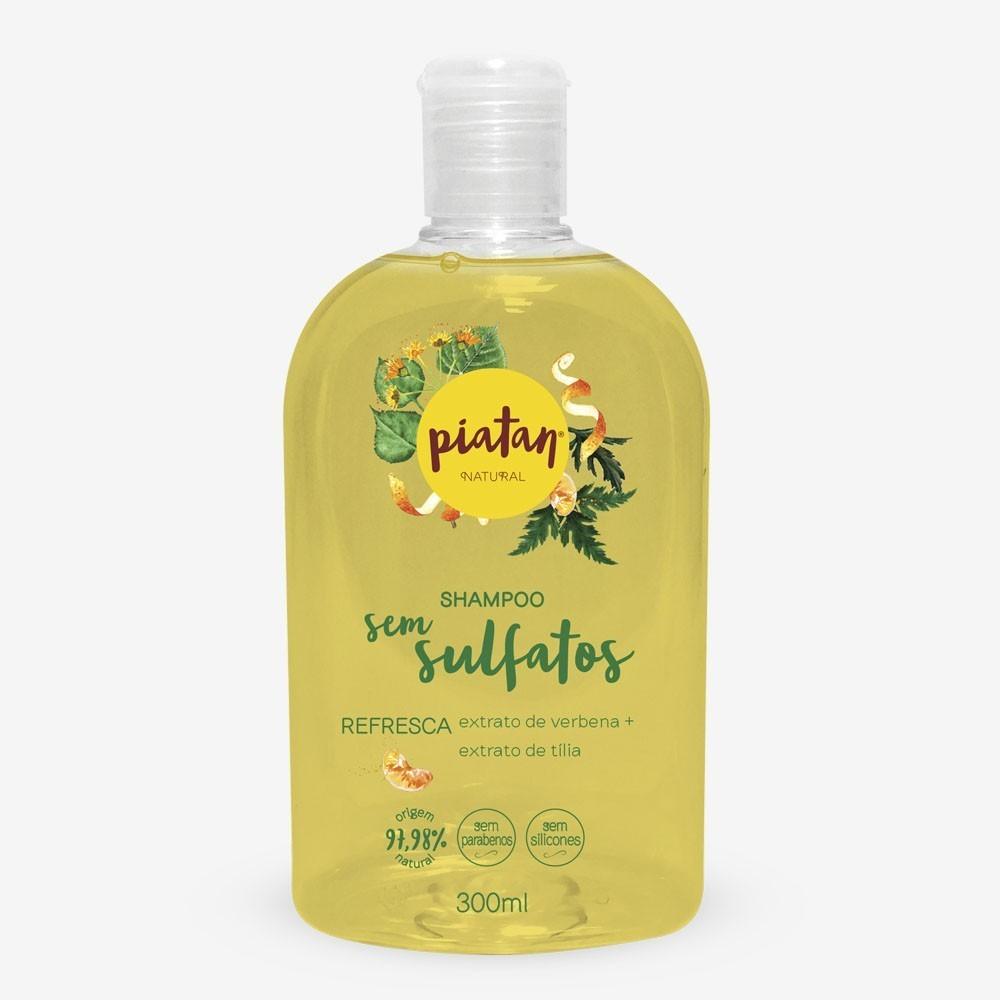 Shampoo Natural Piatan Refresca Sem Sulfatos - 300ml