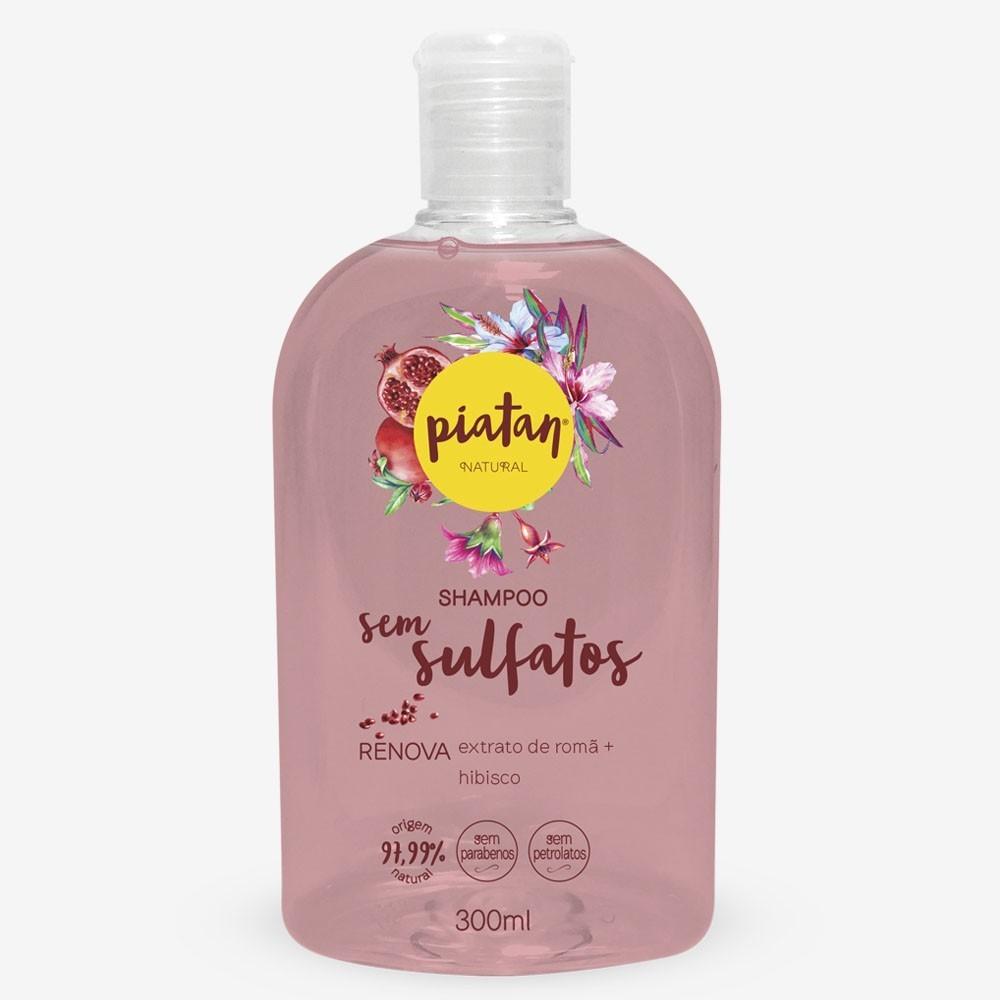 Shampoo Natural Piatan Renova Sem Sulfatos - 300ml
