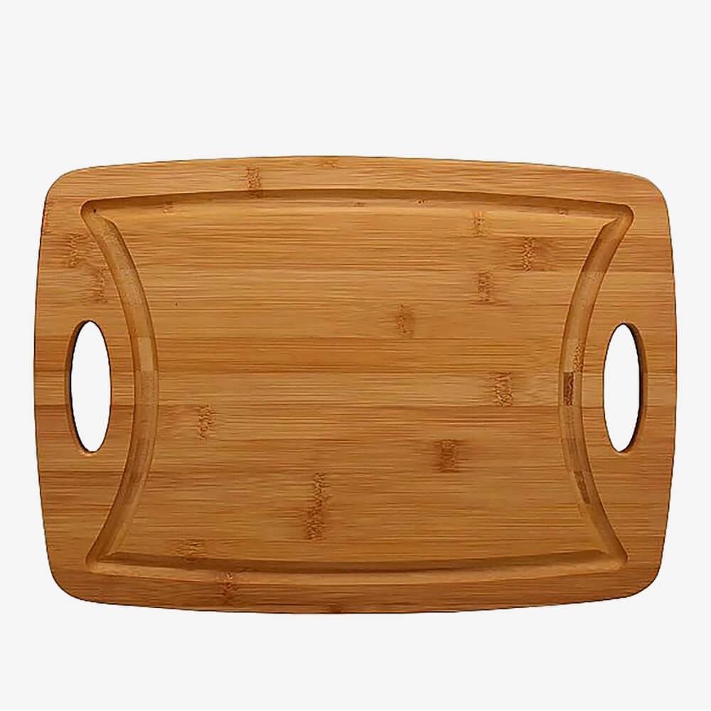 Tábua De Bambu Com Alça 39,5 Cm Hauskraft