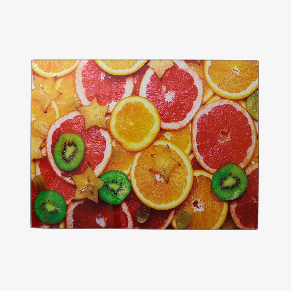 Tábua de vidro grande Frutas