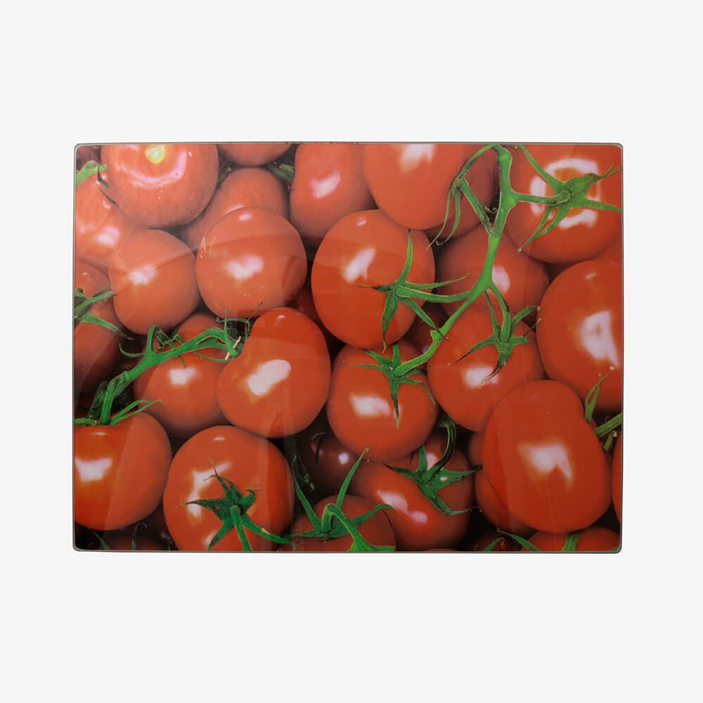 Tábua de vidro grande Tomates