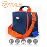 Bolsa Elétrica Voilà! Bag - Academy Azul com Laranja