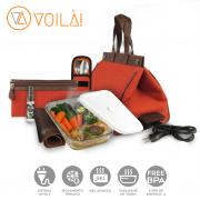 Bolsa Elétrica Voilà! Bag - Classic em Linho Importado Laranja (Com TODOS os Acessórios)