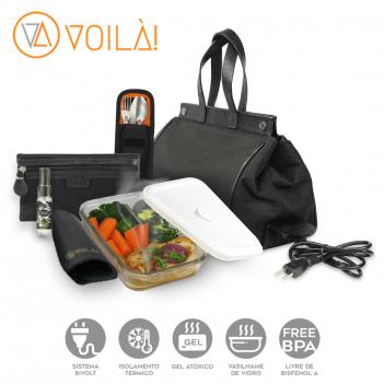 Bolsa Elétrica Voilà! Bag - Classic em Nylon Importado Preto (Com TODOS os Acessórios)